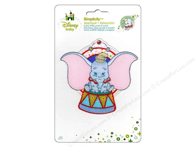 Simplicity Disney Baby Iron On Dumbo Sitting