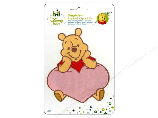 Simplicity Disney Baby Iron On Pooh In A Heart
