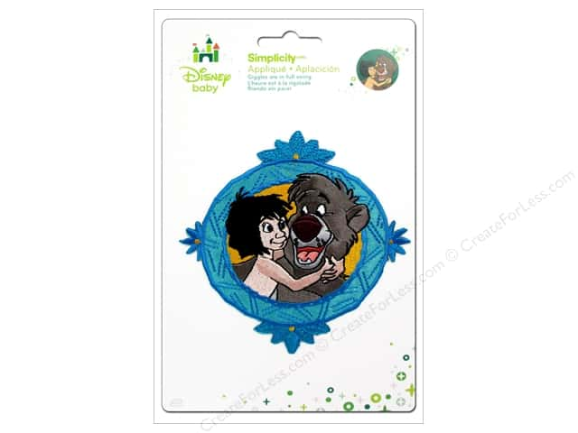 Simplicity Disney Baby Iron On Jungle Book Boy And Bear Framed