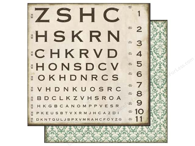 Echo Park 12 x 12 in. Paper Reflections Collection Optical Chart (25 sheets)