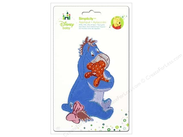 Simplicity Disney Baby Iron On Eeyore With Bear