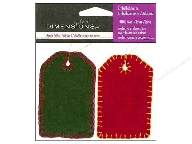 Dimensions 100% Wool Felt Embellishment Tags