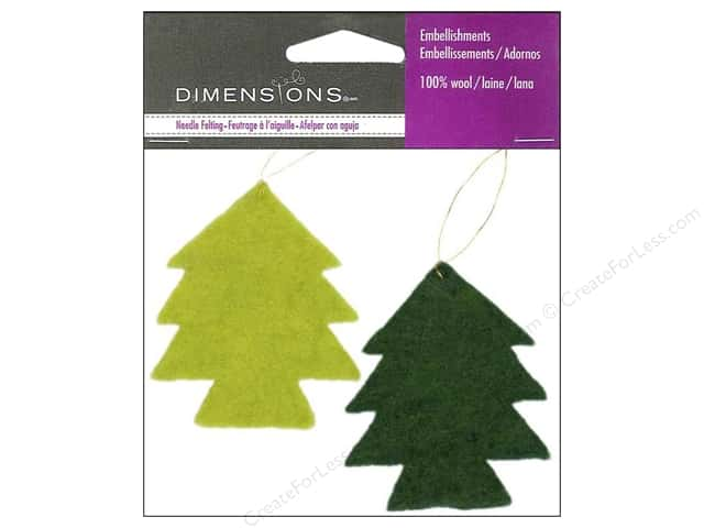 Dimensions 100% Wool Felt Embellishment Trees