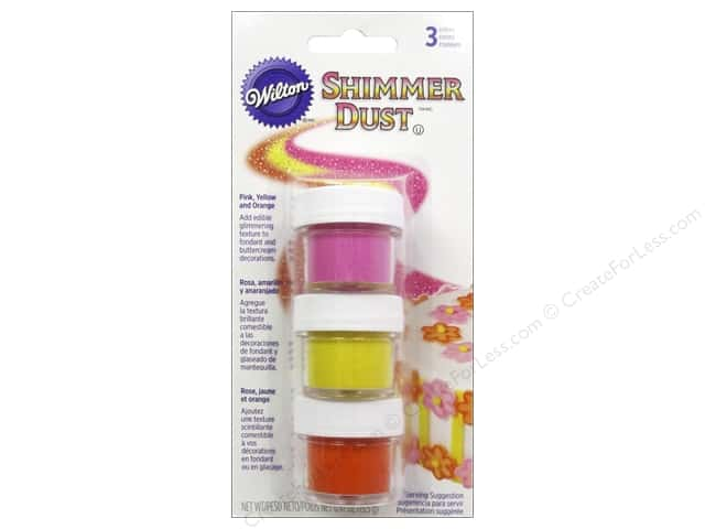 Wilton Edible Decorations Shimmer Dust Set Bright
