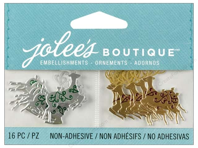 Jolee's Boutique Embellishment Mini Reindeer