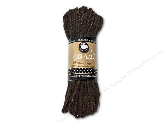 Canvas Corp Hemp Rope 45 ft. Chocolate