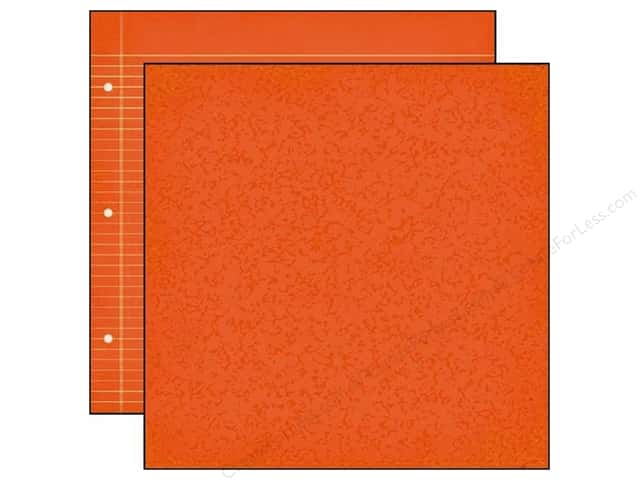 Simple Stories 12 x 12 in. Paper Smarty Pants Orange Composition/Notebook (25 sheets)