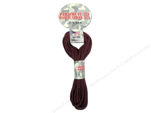 Pepperell 325 Parachute Cord 21 ft. Maroon