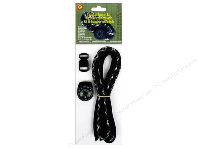 Pepperell Parachute Cord Accessories Compass Bracelet Kit Camo
