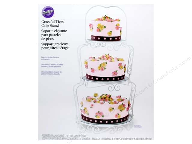 wilton wedding cake stands wilton 3 tier graceful cake cupcakes stand 27534