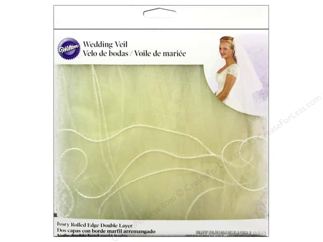Wilton Accessories Veil Double Layer Rolled Edge New Ivory