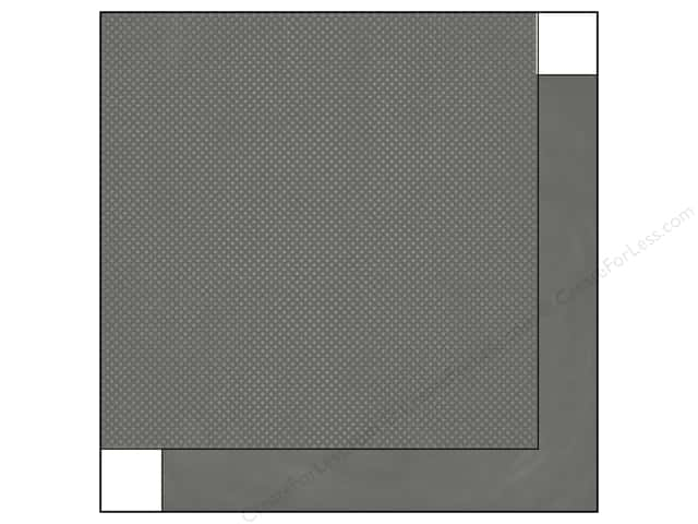 Bo Bunny 12 x 12 in. Paper Double Dot Collection Charcoal Dot