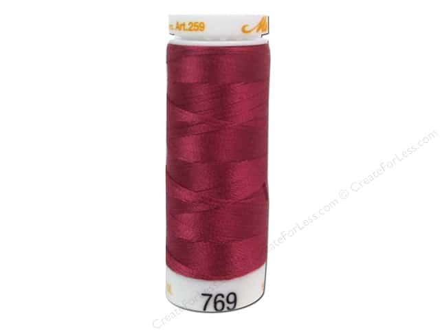 Mettler Cotton Machine Embroidery Thread 30 wt. 220 yd. #769 Blossom