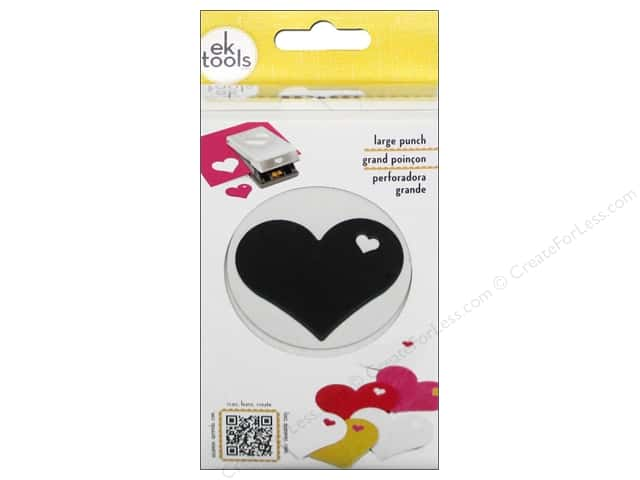 EK Success Large Punch Heart In Heart 2 1/8 in.