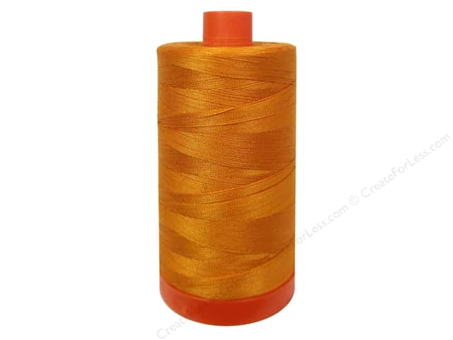 Aurifil Mako Cotton Quilting Thread 50 wt. #1133 Bright Orange 1420 yd.