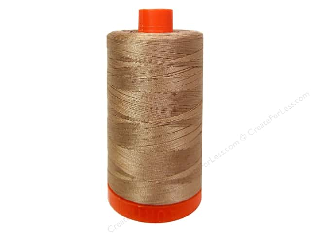 Aurifil Mako Cotton Quilting Thread 50 wt. #2340 Cafe au Lait 1420 yd.