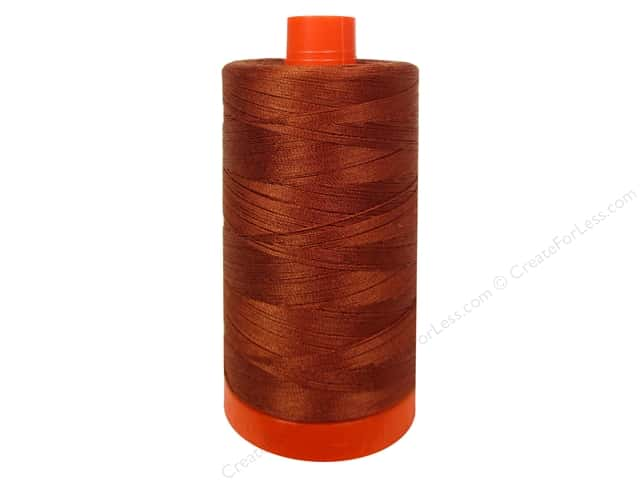Aurifil Mako Cotton Quilting Thread 50 wt. #2350 Copper 1420 yd.