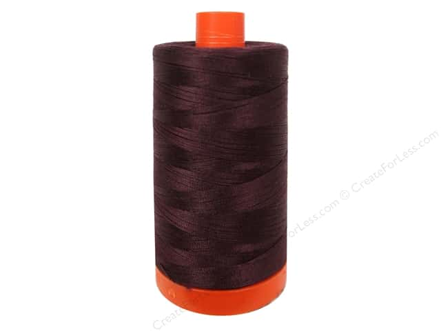 Aurifil Mako Cotton Quilting Thread 50 wt. #2468 Dark Wine 1420 yd.