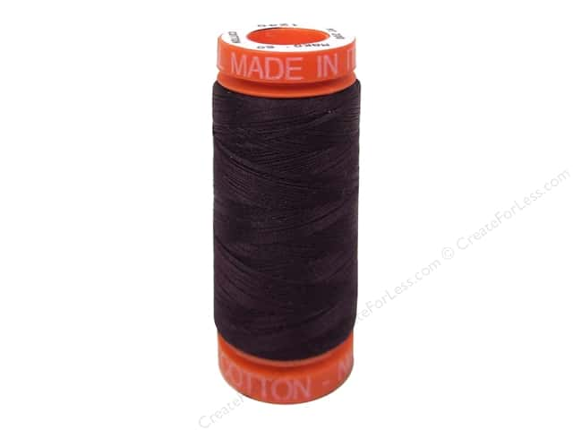 Aurifil Mako Cotton Quilting Thread 50 wt. #1240 Eggplant 220 yd.