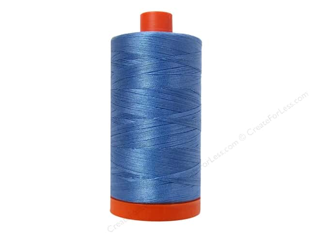 Aurifil Mako Cotton Quilting Thread 50 wt. #2725 Light Wedgewood 1420 yd.
