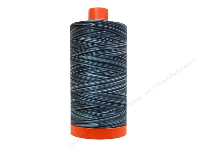 Aurifil Mako Cotton Quilting Thread 50 wt. #4665 Variegated Ebony Acquarelli