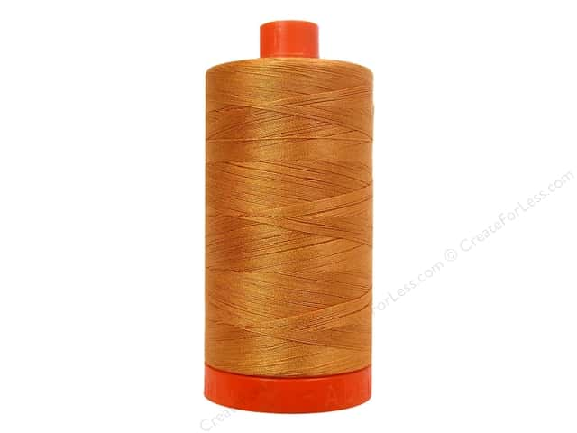 Aurifil Mako Cotton Quilting Thread 50 wt. #5009 Zena Spice 1420 yd.