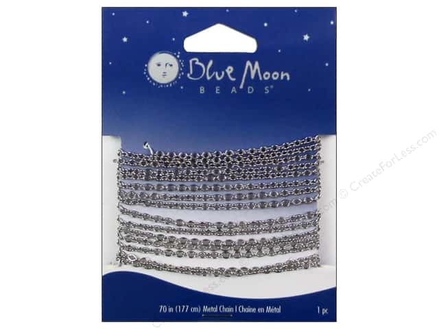 Blue Moon Beads Small Cable Chain 70 in. Silver