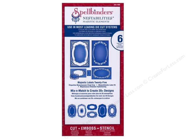 Spellbinders Nestabilities Majestic Elements Die Majestic Labels Twenty-Five