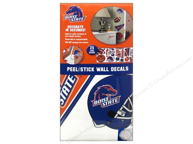 York Peel & Stick Decal Wall Boise State 4 Sheet