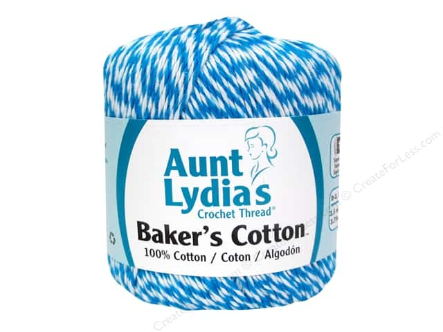 Aunt Lydia's Baker's Cotton Size 3 #0529 Turquoise 150 yd.