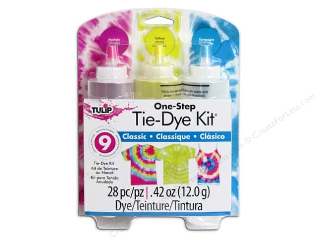 Tulip One Step 3-Color Tie Dye Kits Classic