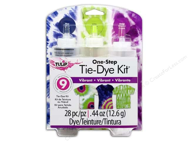 Tulip Dye Kits One Step Tie 3 Color Vibrant