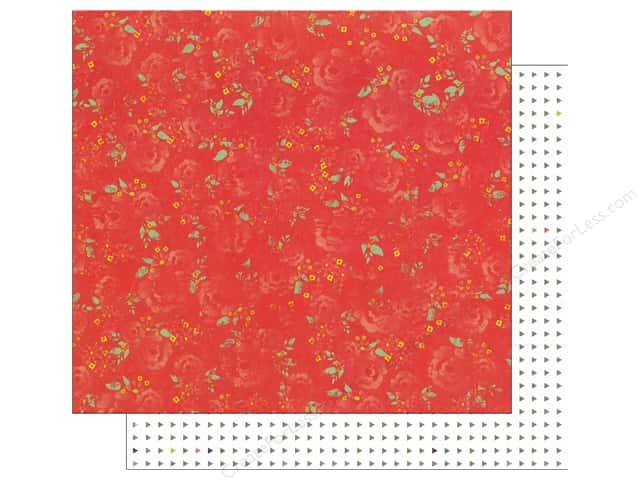 Glitz Design 12 x 12 in. Paper Finnley Floral (25 sheets)