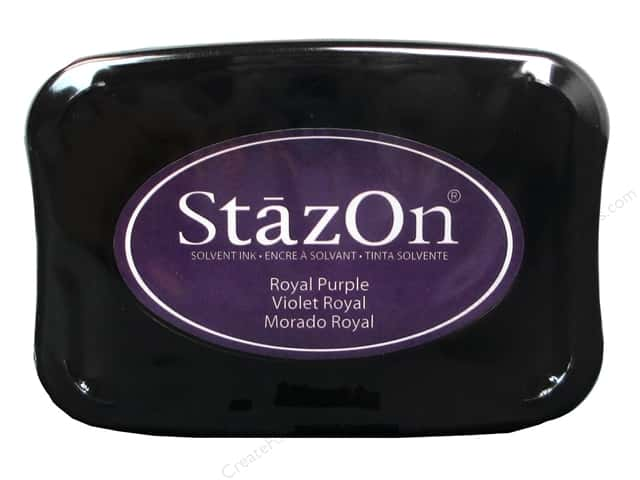 Tsukineko StazOn Large Solvent Ink Stamp Pad Royal Purple