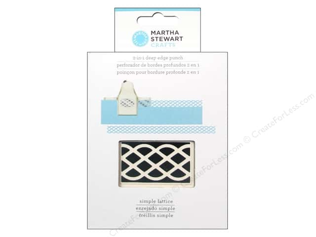 Martha Stewart 2-in-1 Deep Edger Punch Simple Lattice
