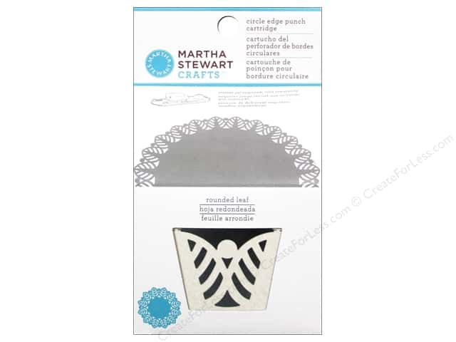 Martha Stewart Circle Edge Punch Cartridge Rounded Leaf