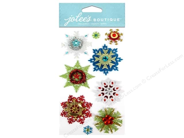 Jolee's Boutique Stickers Embellished Snowflakes