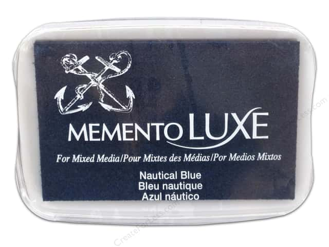 Tsukineko Memento Luxe Ink Pad Large Nautical Blue