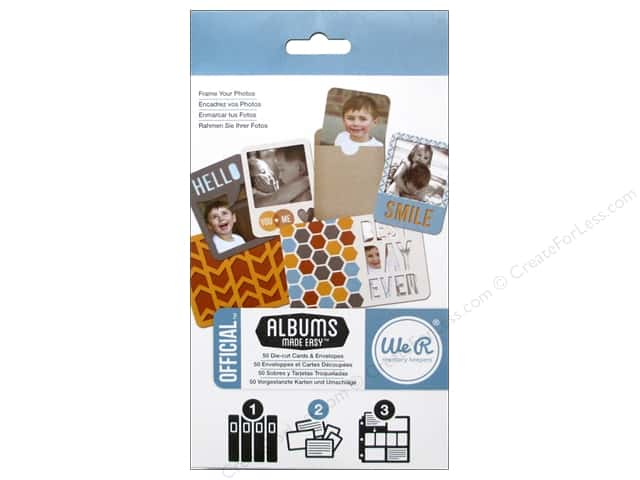 We R Memory Cards Albums Made Easy Die Cut Official