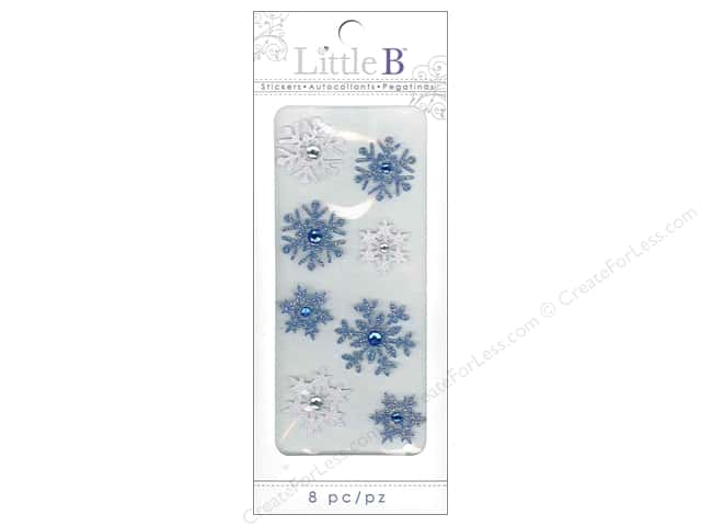Little B Sticker Mini Winter Snowflakes