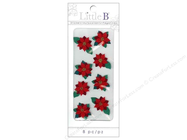 Little B Sticker Mini Holiday Poinsettias