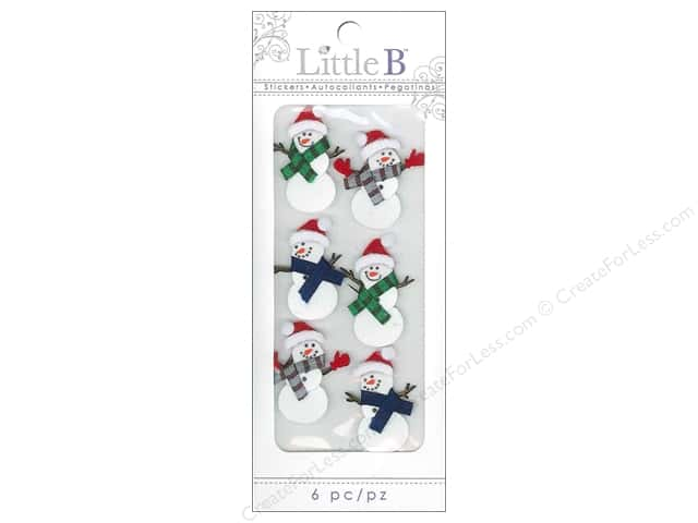 Little B Sticker Mini Winter Snowmen