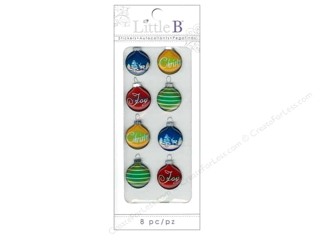 Little B Sticker Mini Christmas Ornaments