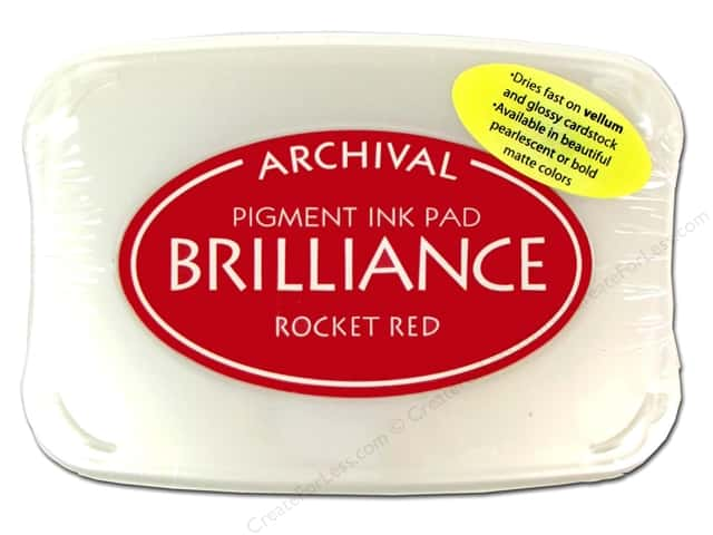 Tsukineko Brilliance Large Stamp Pad Rocket Red