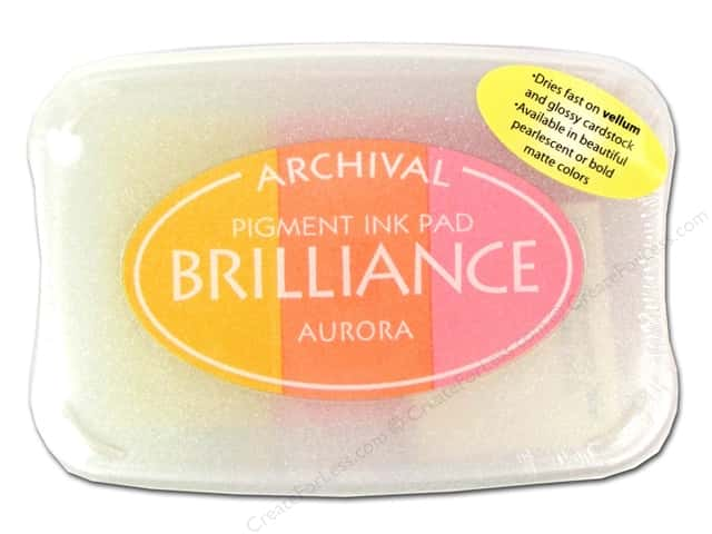 Tsukineko Brilliance Large Craft Stamp Pad Aurora 3 Color