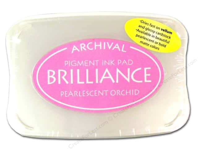 Tsukineko Brilliance Large Stamp Pad Pearlescent Orchid