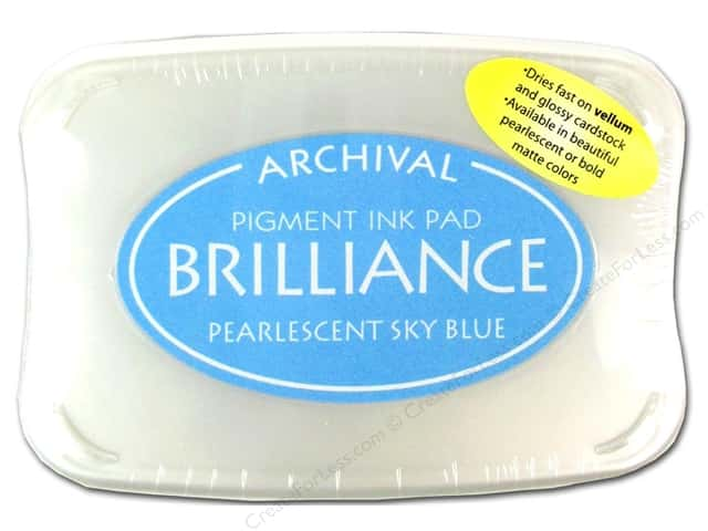Tsukineko Brilliance Large Stamp Pad Pearlescent Sky Blue