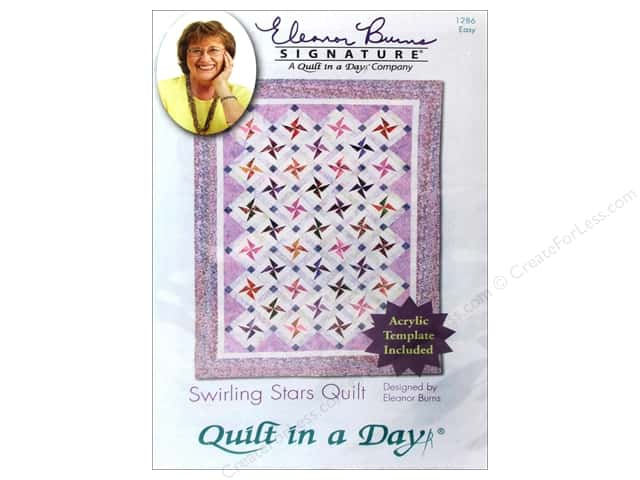 Quilt In A Day Swirling Stars Quilt Pattern
