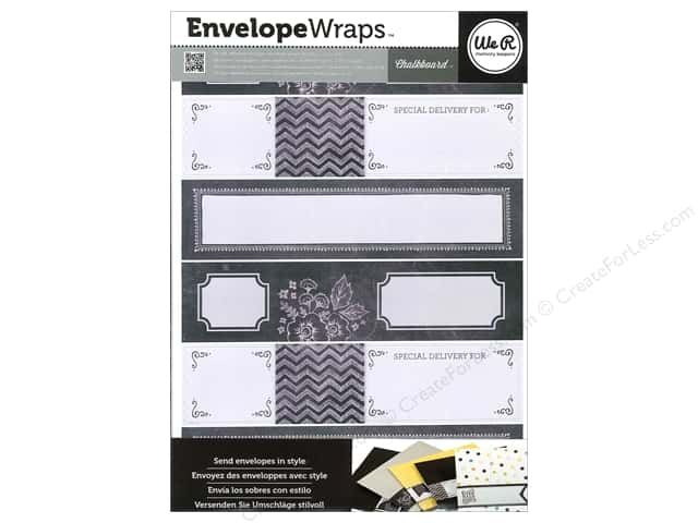 We R Memory Sticker Envelope Wrap Chalkboard