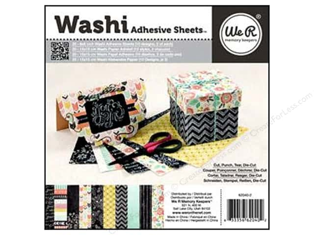 We R Memory Keepers 6 x 6 in. Washi Adhesive Sheets Chalkboard 20 pc.